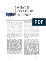 What is Strategic Pricing