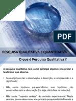 Pesquisa Quali e Quantitativa