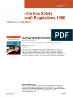 HSE - A Guide to Gas Safety (Management) Regulations