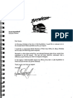 """David Hasselhoff calls himself """"Honorary Chairman"""" of the Save-A-Life Foundation (SALF) in 11/29/99 welcome letter to SALF Awards Dinner for IL Secretary of State Jesse White and my father"""