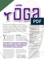 Shape up with Yoga