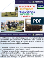 APRESENTAÇÃO - VI Mostra Surubim Dezembro_2013 - EREMs E ETEs
