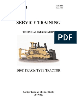 D10T (RJG) Service Training | Transmission (Mechanics) | Vehicle Parts