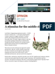 A Stimulus for the Middle Class