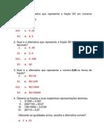 Exercícios com números racionais e decimais