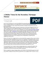 A Bolder Vision for the Secondary Mortgage Market