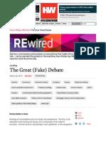 The Great (Fake) Debate