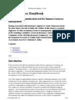 The Employee Handbook - A Knol by Sreekrishnan Narayanan