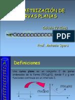 Análisis Matemático I - Parametrización de Curvas Planas