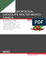 Plan de Exportacion Chocolate