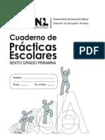 20126 Cuaderno de Pacricas Escolares de Sexto Grado