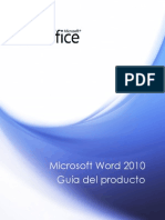 Microsoft Word 2010 Product Guide