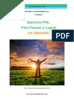 Ejercicio PNL Para Pensar y Lograr en Grande- CursoAutoestimaPNL
