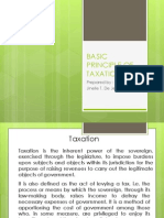 Basic Principle of Taxation
