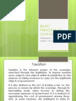 Basic Principle of Taxation