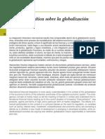Reflexión crítica sobre la globalización financiera