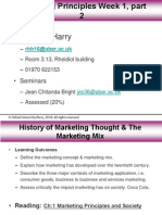 Week 1 Part 2 History of Marketing & Marketing Mix for Blackboard