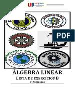 ÁLGEBRA LINEAR - Liista de exercícios B 2013.1 logotipo