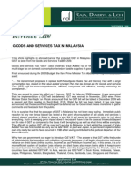 Goods and Services Tax in Malaysia