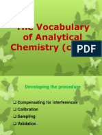 Vocabulary of Anal Chem (Cont.)
