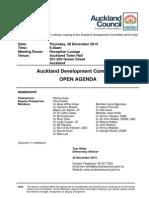 Auckland Development Committee Agenda 11/13