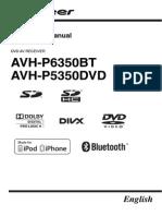 Operating Manual (Avh p6350bt Avh p5350dvd) Eng
