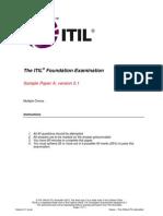 ITIL Foundation Examination SampleA v5.1