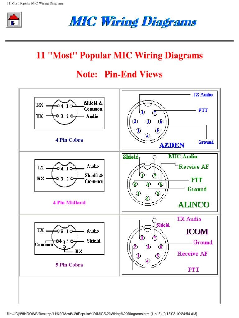 Mic Wiring Diagrams