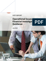 Operational Issues - Financial Investigations Guidance