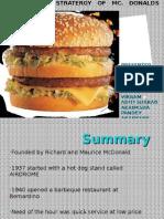 McDonald's Business Strategy