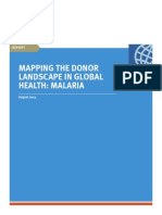 Mapping the Donor Landscape in Global Health Malaria