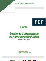 Curso Gestão de Competências na Administração Pública