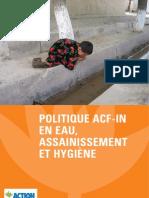 ACF WASH - Politique Eau Assainissement Hygiene - 06-2008 - Fr