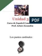 Curso de español comunicativo.UNIDAD 3