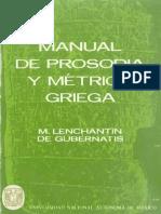 186744791 Lenchantin de Gubernantis M Manual de Prosodia y Metrica Griega