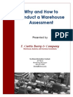 Why and How to Conduct a Warehouse Assessment 7-31-12