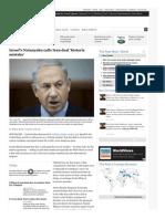 Israel's Netanyahu calls Iran deal 'historic mistake'