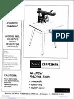 Manual Craftman 10inch saw