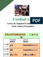 Curso de español comunicativo UNIDAD 2