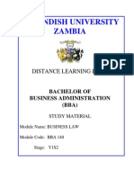 BBA124 Business Law Module