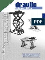 Hydraulic Scissor Lift Catalog