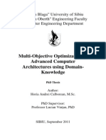 Multi-Objective Optimization of Advanced Computer Architectures using Domain-Knowledge