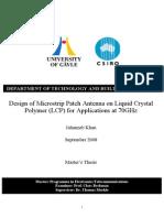 thesis antenna design