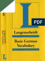 LANGENSCHEIDT Basic German Vocabulary