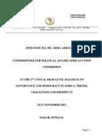 2nd High Level Dialogue Speech by Comm Dr Aisha- Final