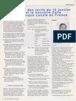 La Réforme de la Géographie Tarifaire, - Revue FITCE, 1995