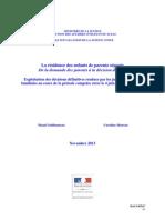 La Residence Des Enfants de Parents Separes Divorces en France en 2013 - Decisions Du Juge Aux Affaires Familiales Apres La Loi Du 4 Mars 2002