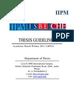 iub thesis guidelines