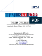 All India Thesis Guidelines