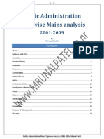 [Public Administration Mains] Complete Topicwise Analysis 2001-09